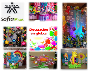 decoración en globos