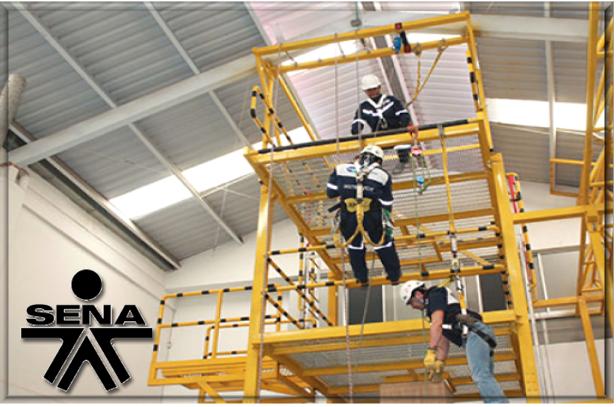Acondicionamiento de andamios para trabajo en alturas